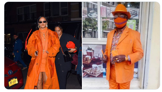 Nairobi Man Matches all of Rihanna's Outfit